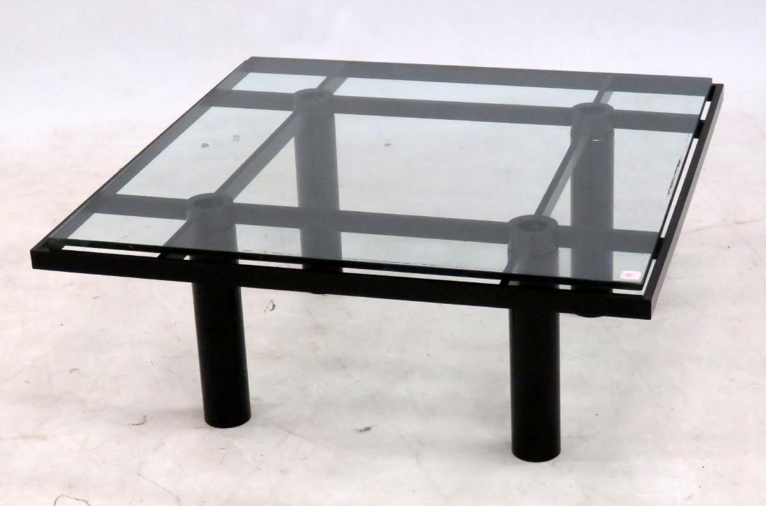 DESIGNER MODERN STEEL COCKTAIL TABLE WITH FLOATING