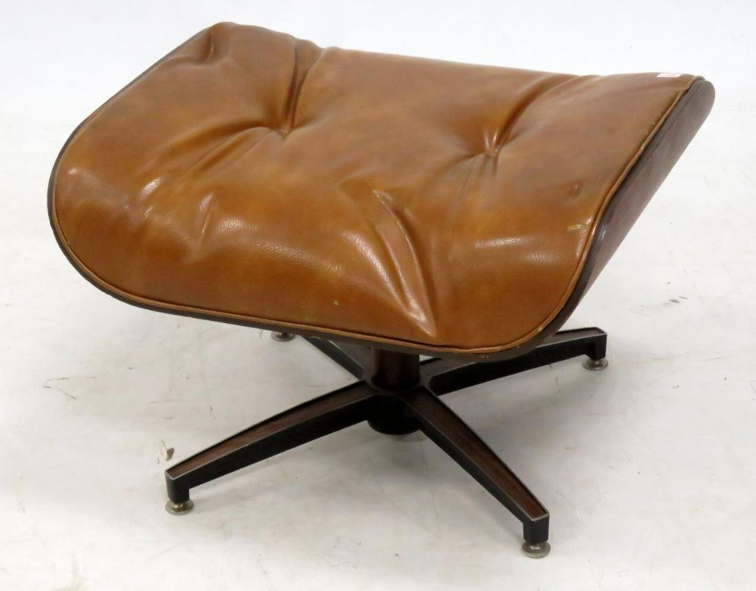 EAMES STYLE LAMINATED/LEATHER OTTOMAN