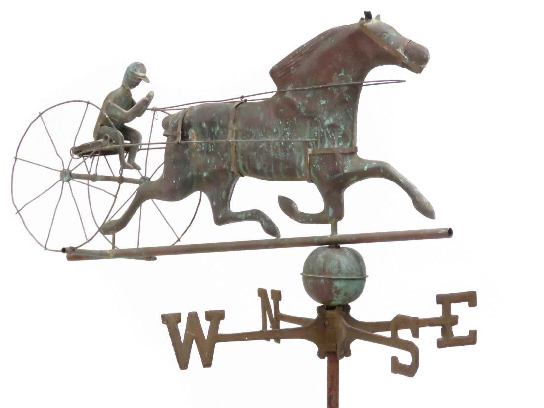 COPPER FULL-BODIED TROTTER WEATHER VANE WITH