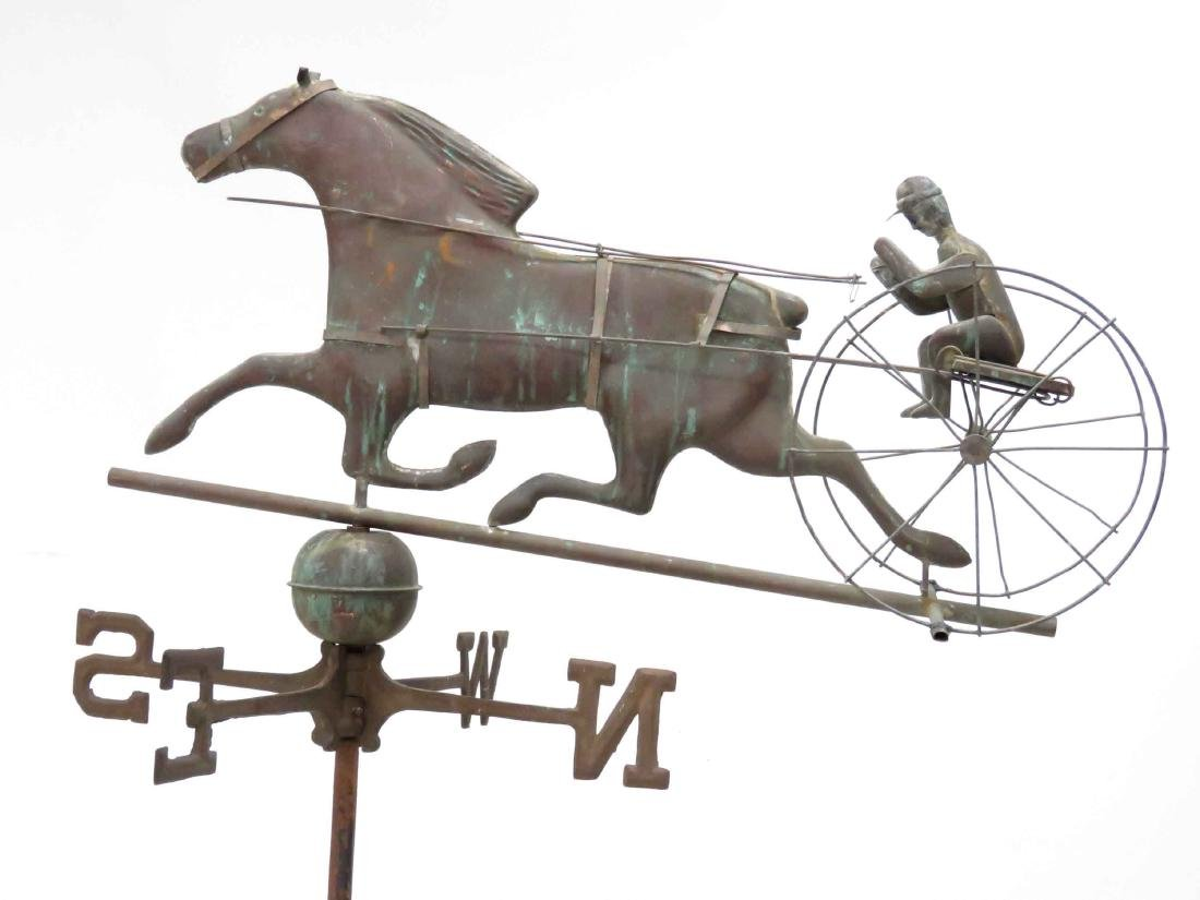 COPPER FULL-BODIED TROTTER WEATHER VANE WITH - 2