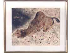 REUVEN RUBIN (ROMANIAN/ISRAELIAN 1893-1974), WATERCOLOR