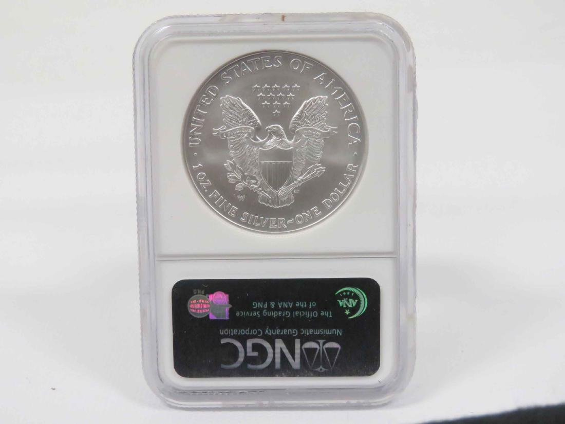 2008-W SILVER EAGLE (REVERSE OF 2007) MS-69 (NGC) - 2