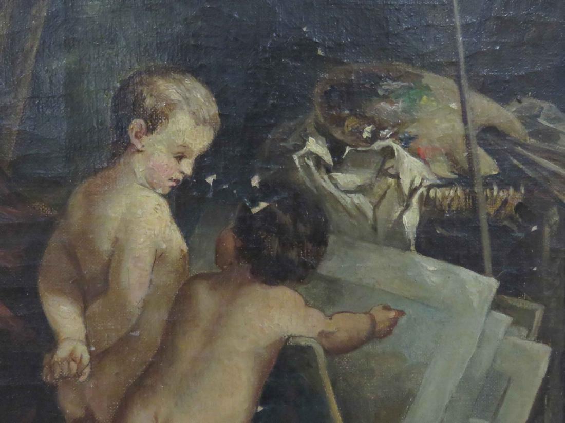 CONTINENTAL SCHOOL (19TH CENTURY), OIL ON CANVAS, PUTTI - 3