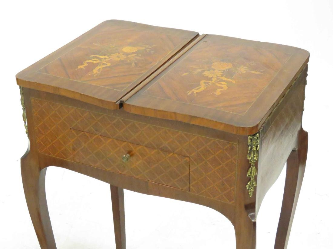LOT (2) INCLUDING FRENCH LOUIS XVI STYLE MARQUETRY - 3