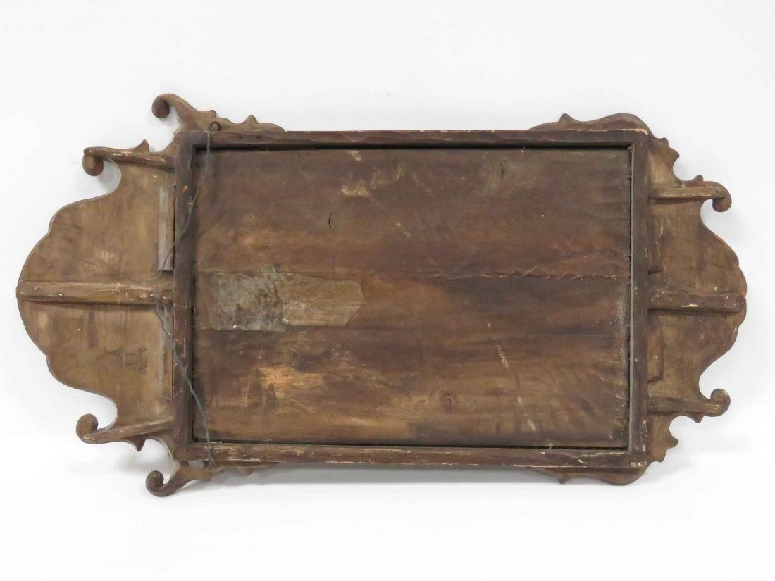 GEORGE II CARVED WALNUT FRAMED MIRROR PLATE WITH CARVED - 3