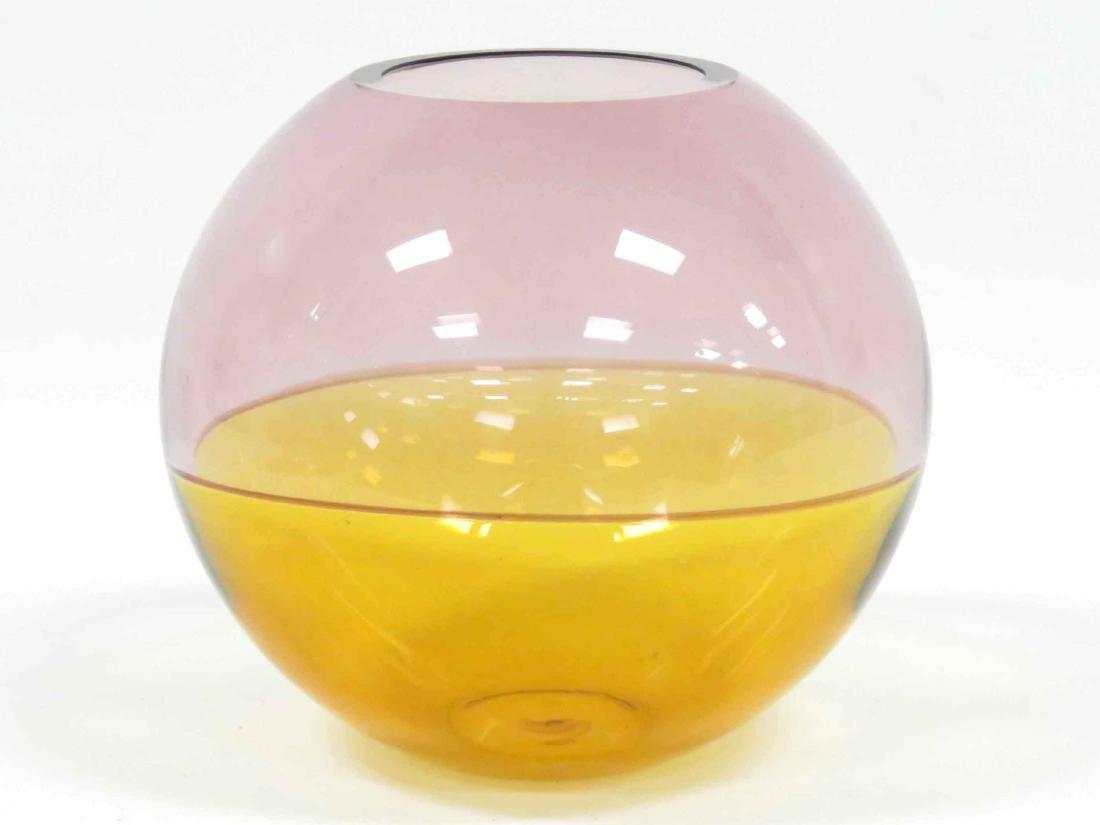 "BARBINI MURANO ART GLASS VASE, SIGNED. HEIGHT 7 1/2"" - 2"