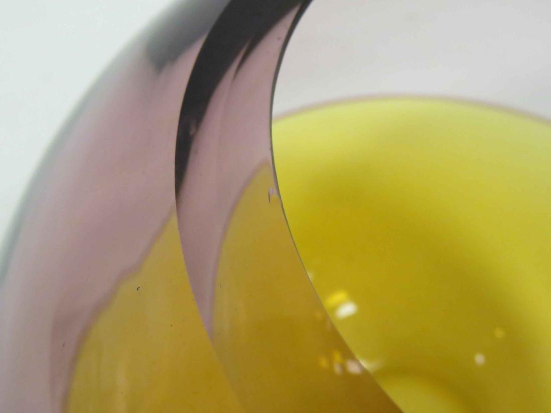 "BARBINI MURANO ART GLASS VASE, SIGNED. HEIGHT 7 1/2"" - 5"