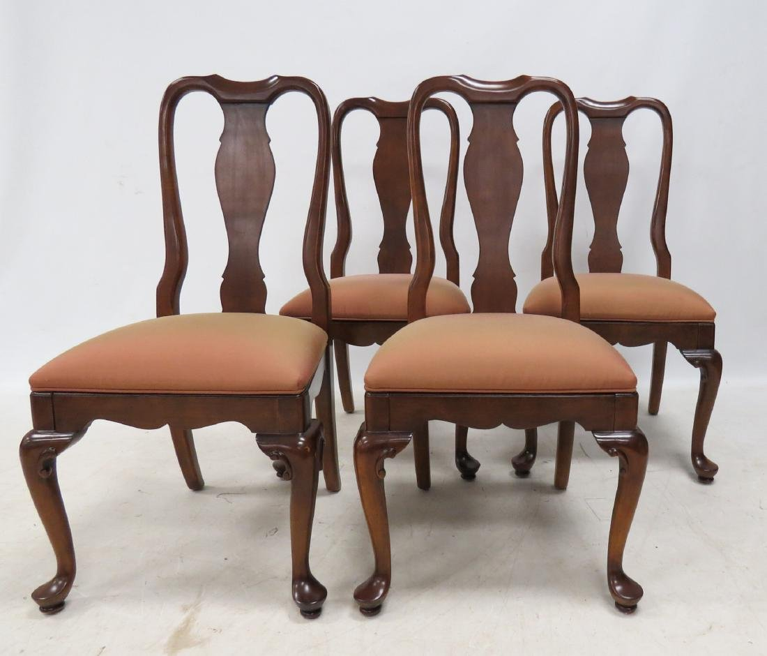 COUNCILL FURNITURE SET (4) QUEEN ANNE STYLE CARVED