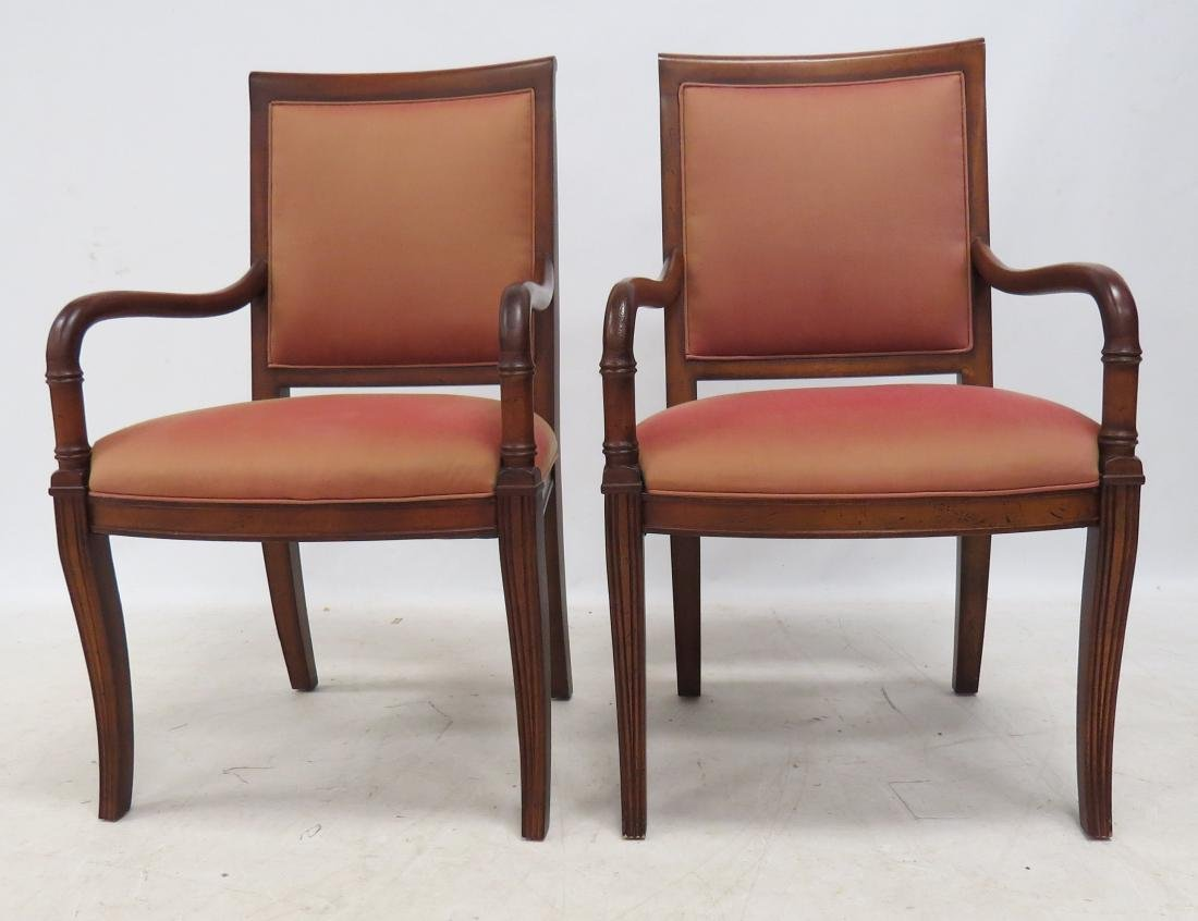 COUNCILL FURNITURE PAIR FRENCH EMPIRE STYLE FRUITWOOD