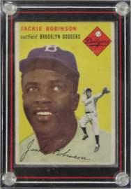 1954 TOPPS BASEBALL CARD, #10 JACKIE ROBINSON (HOF),