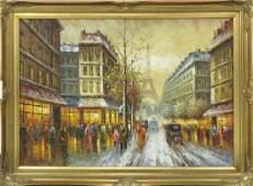 FRENCH SCHOOL 20TH CENTURY OIL ON CANVAS PARIS