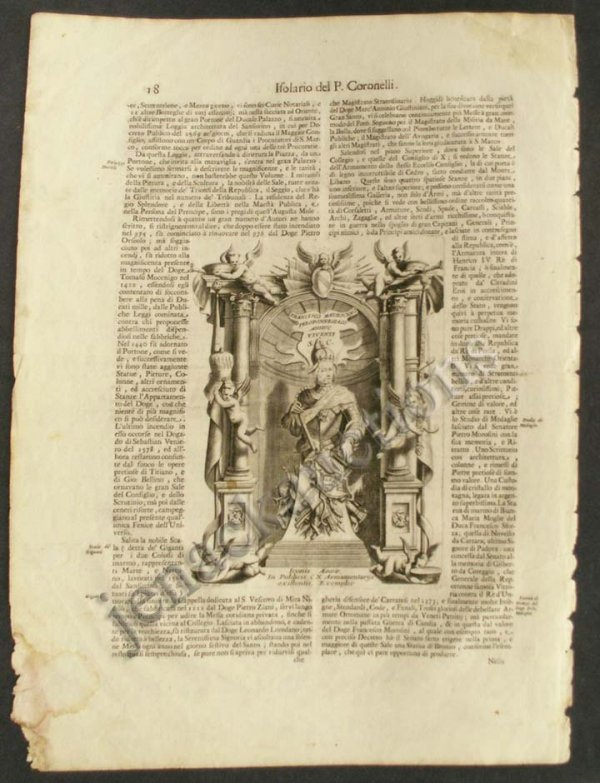 1002: PRINTED FOLIO PAGE FROM HISTORY OF VENICE