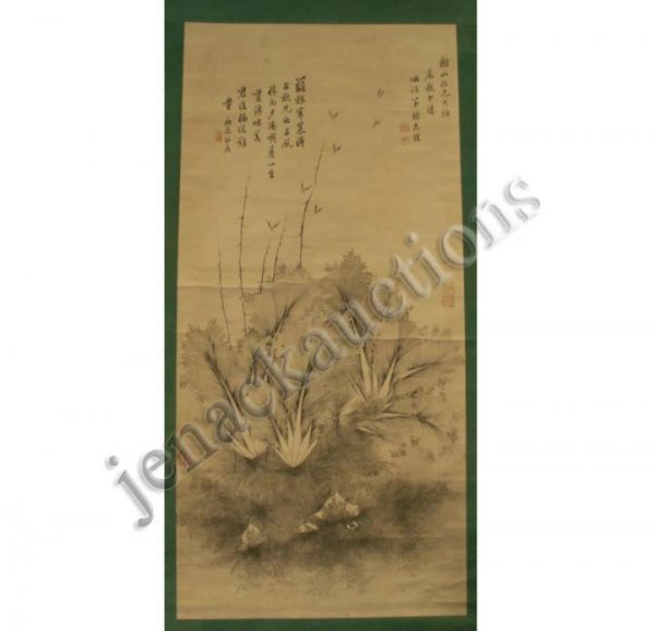 1007: CHINESE SCROLL PAINTING ON PAPER