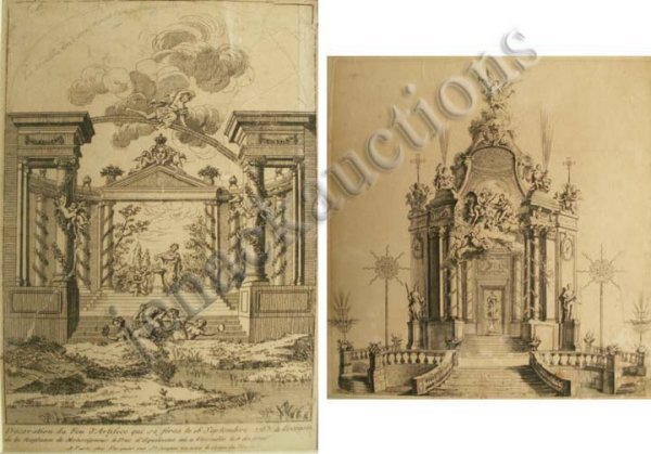 1008: LOT (2) FRENCH ARCHITECTURAL ENGRAVINGS
