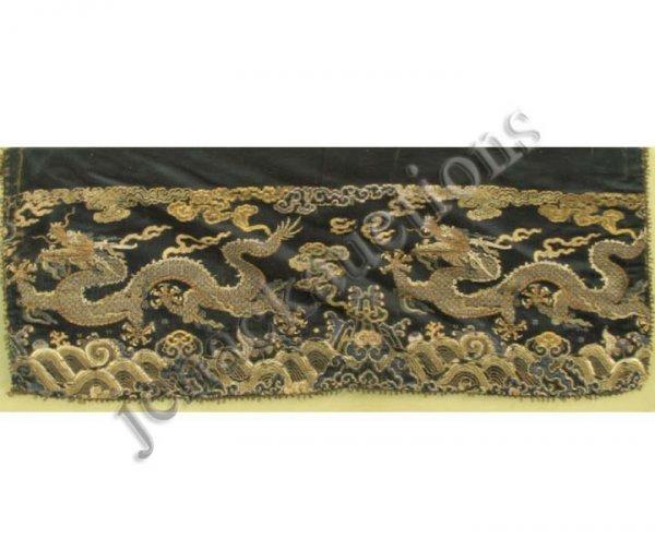 1020: PAIR CHINESE KESI EMBROIDERED SILK DRAGON PANELS