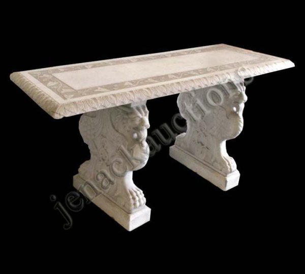 1191: CONTINENTAL CARVED MARBLE PIER TABLE