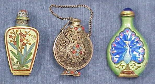 2015: LOT (3) ASSORTED CHINESE SNUFF BOTTLES
