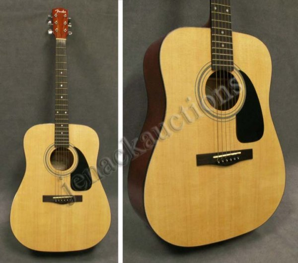 3: FENDER MODEL DG 8NAT ACOUSTIC GUITAR