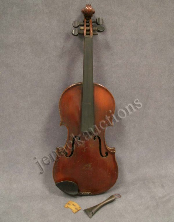 6: VINTAGE  3/4 VIOLIN LABELED MR. PEARL H. ALGER