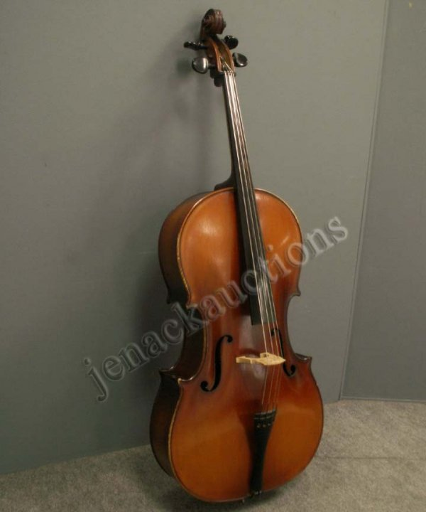 8: VINTAGE ROMANIAN CELLO WITH SOFT CASE