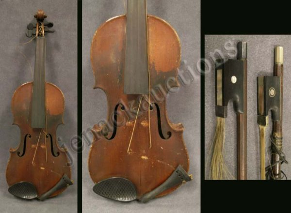 22: VINTAGE VIOLIN LABELED JOH. BAPT. SCHWEITZER 1813