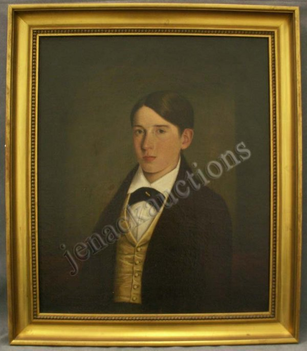 169: PAINTING, PORTRAIT OF A YOUNG MAN, G.H. DURRIE