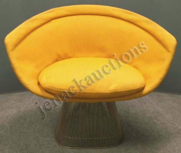 1004: WARREN PLATNER DESIGN UPHOLSTERED LOUNGE CHAIR