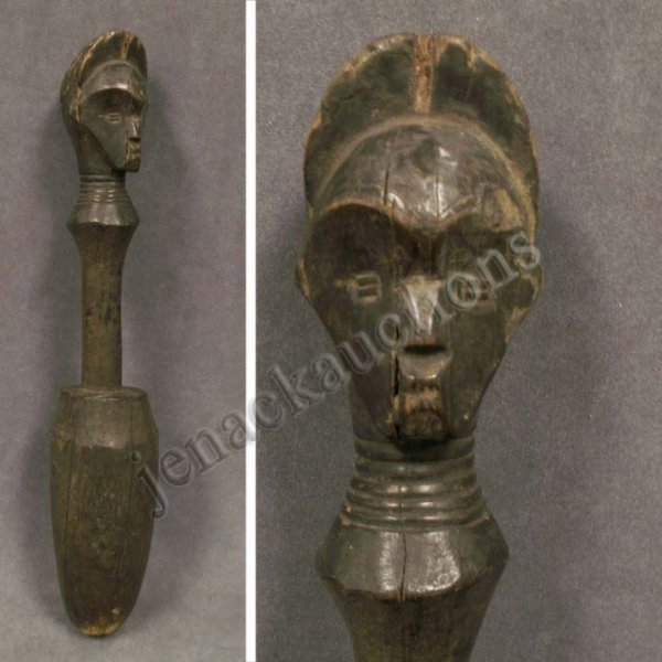 2002: CONGO CARVED FIGURAL CEREMONIAL POUNDER