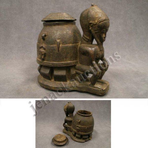 2004: BAULE WOOD DIVINER BOX, IVORY COAST C.1920'S