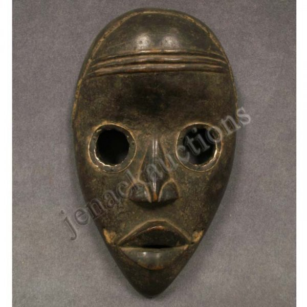 2008: DAN CARVED MASK WITH METAL INLAY