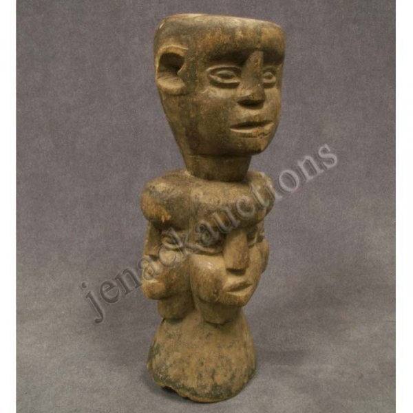 2012: IBIBIO CARVED STAFF FINIAL