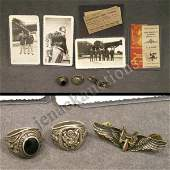 2251: LOT INCLUDING ASSORTED VINTAGE WWII PHOTOGRAPHS