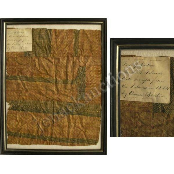 2401: SANDWICH ISLAND TAPPA CLOTH CIRCA 1824