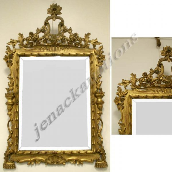 19: CONTINENTAL CARVED AND GILT FRAMED MIRROR
