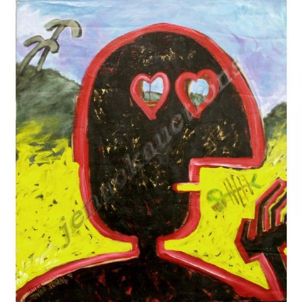 "1019: PAINTING, ""TAUER"", SIGNED AND TITLED TORAL"