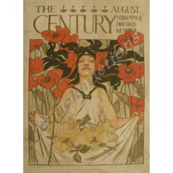 1022: J.C. LEYENDECKER LITHOGRAPH/POSTER, THE CENTURY
