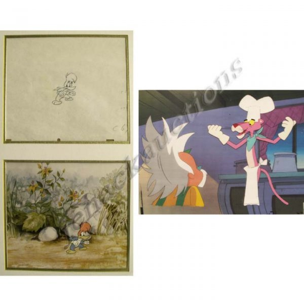 1024: LOT (2) ORIGINAL HAND PAINTED CELS