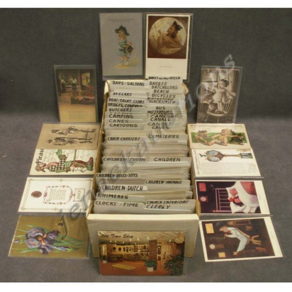 2014: BOX ASSORTED VINTAGE POSTCARDS (APPROXIMATELY 577
