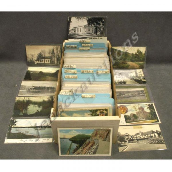 2022: BOX ASSORTED VINTAGE POSTCARDS (APPROXIMATELY 443
