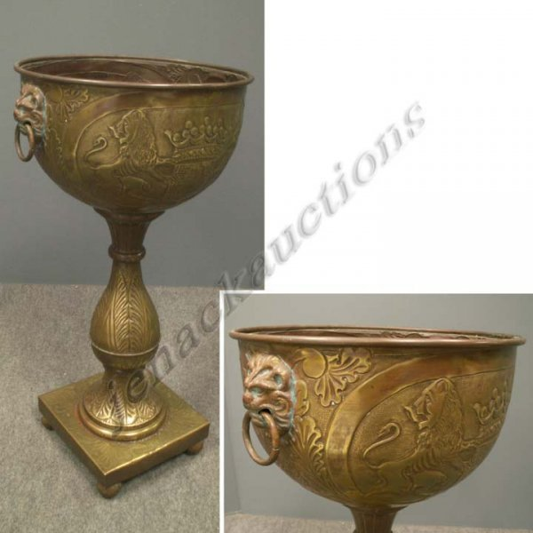 11: VICTORIAN STYLE REPOUSSE BELGIAN BRASS FERNER