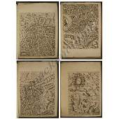 365 LOT 4 ASSORTED OLD MASTER FOLIO ENGRAVED MAPS