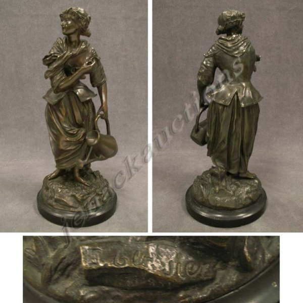 1003: BRONZE SCULPTURE, SIGNED E. BLAVIER, 1851