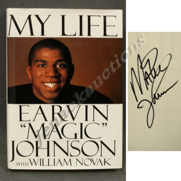 1024: AUTOGRAPHED VOLUME-MY LIFE, SIGNED MAGIC JOHNSON