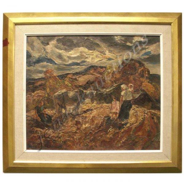 "1188: OIL ON PANEL, ""ROCKLAND COUNTY FARM SCENE"", SIGNE"