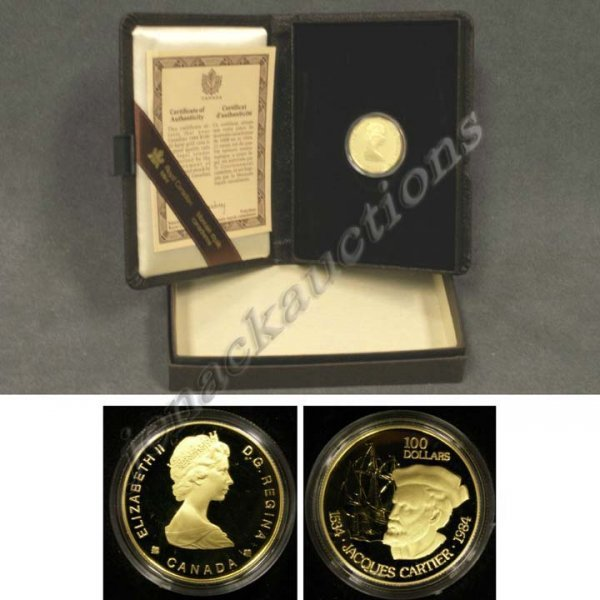 1: 1984 CANADIAN ONE HUNDRED DOLLAR GOLD COIN