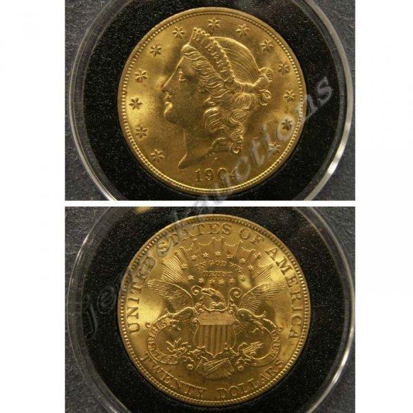 7: 1904 CORONET HEAD $20.00 (DOUBLE EAGLE) GOLD COIN