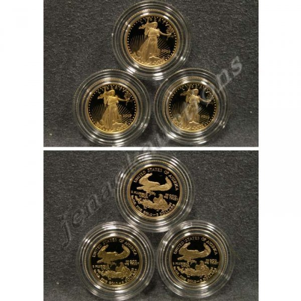 10: LOT (3) AMERICAN EAGLE GOLD PROFF COINS