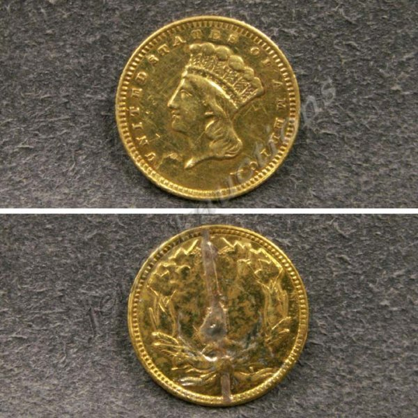 15: LARGE INDIAN HEAD GOLD DOLLAR COIN