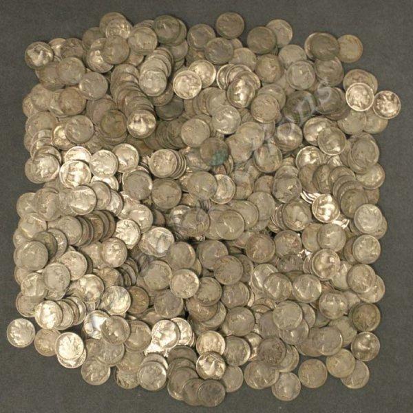 24: LOT (555) ASSORTED BUFFALO NICKEL COINS