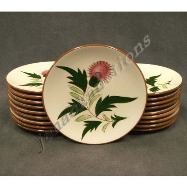 1006: LOT (19) STANGL POTTERY THISTLE BREAD PLATES